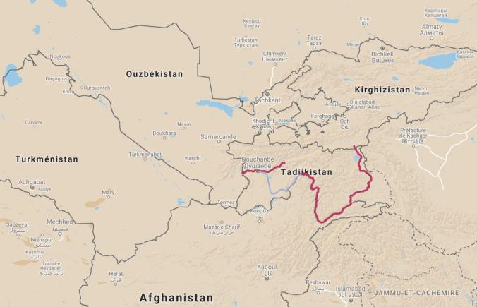 Pamir map
